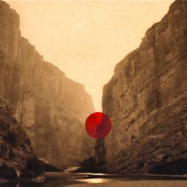 Photolucida: Christa Blackwood: Naked Lady: A Dot Red