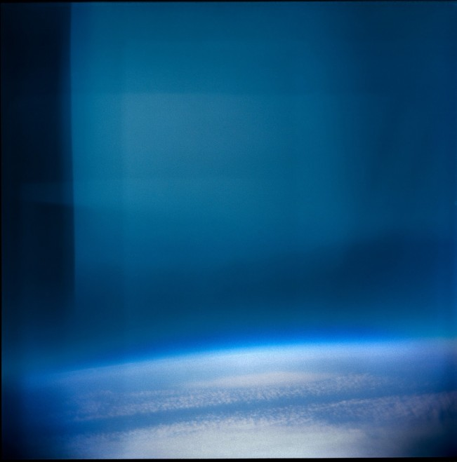 View of Earth from the Stratosphere with Holga plactic 'toy' camera.