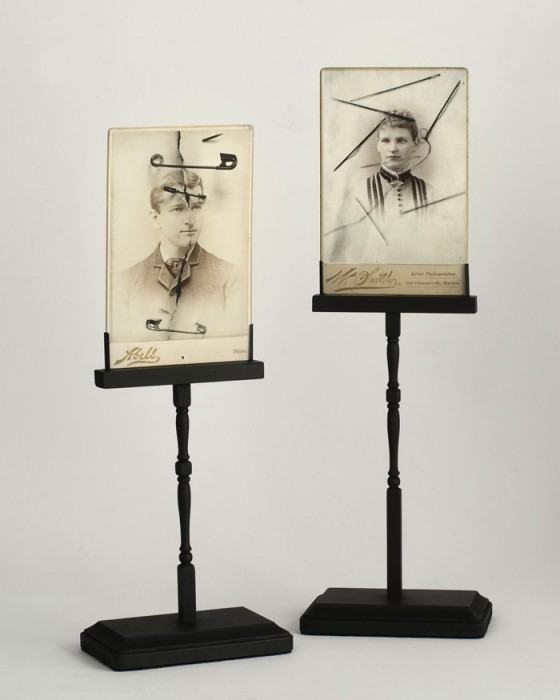 Cabinet Cards on Artist Made Stands by Rachel Phillips