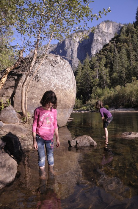 Leila and Talia at Yosemite