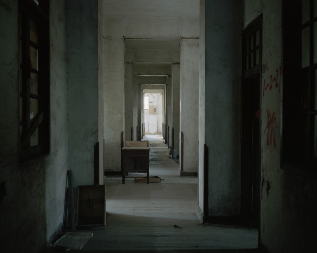 An abandoned apartment building. Chongqing, China. 2011