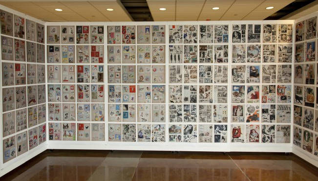Tale of Two Obsessions Arline Conradt & the Cat Scrapbook Wallpaper Mock-up Installation of archival inkjet prints