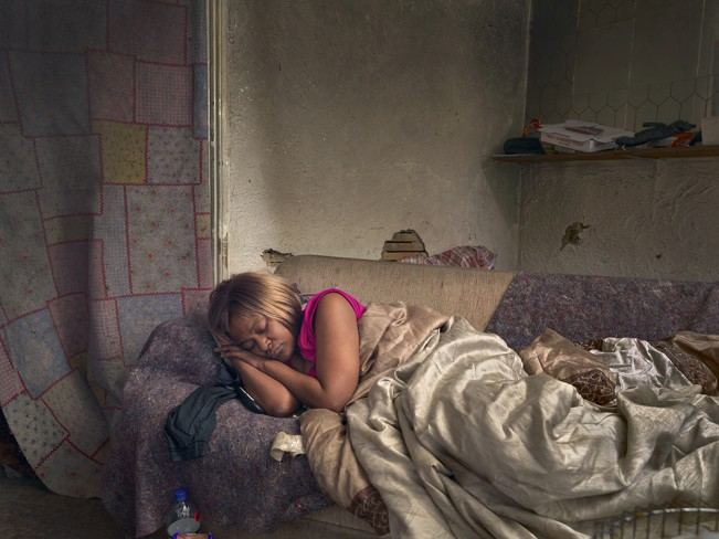 Diane Sleeping, Poletown, Detroit 2013