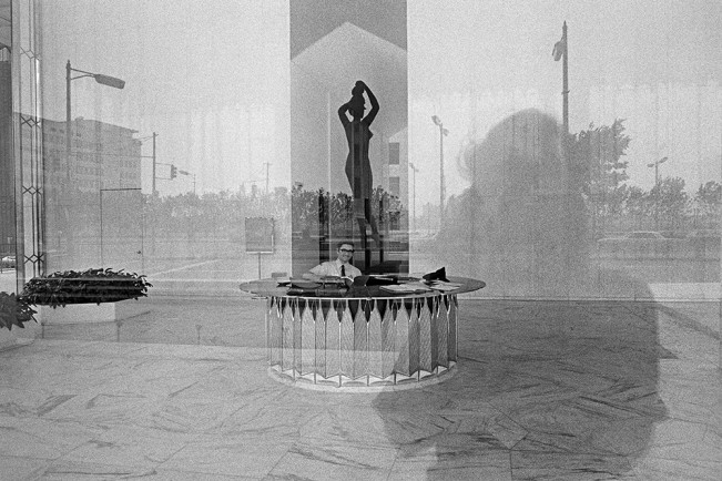Guard with Reflection, Detroit 1972 1-36-3