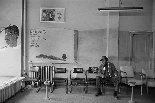 Interior, Paul's Barber Shop, 2611 John R, Detroit 1972