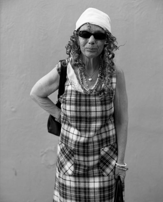 Judy in plaid dress