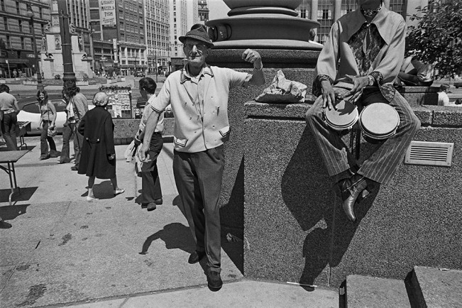 Man Dancing in Kennedy Square, Detroit 1972 1-23-3