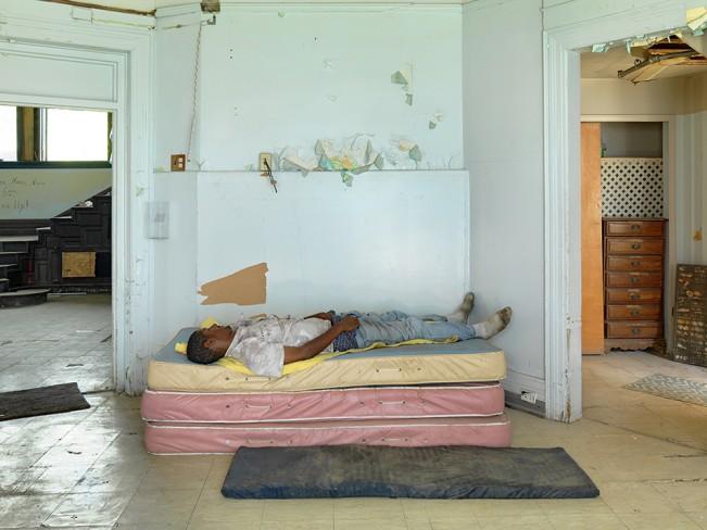 Man Sleeping in a Room, Southeast Side, Detroit 2013.tif