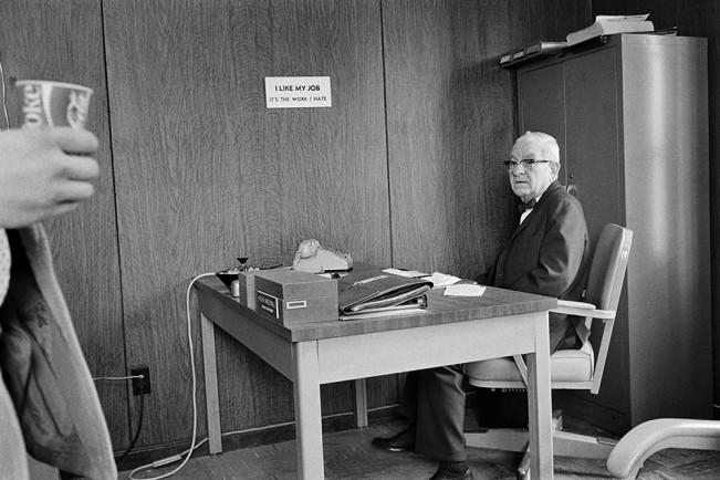 Man at His Desk, Detroit 1972 3-33-3