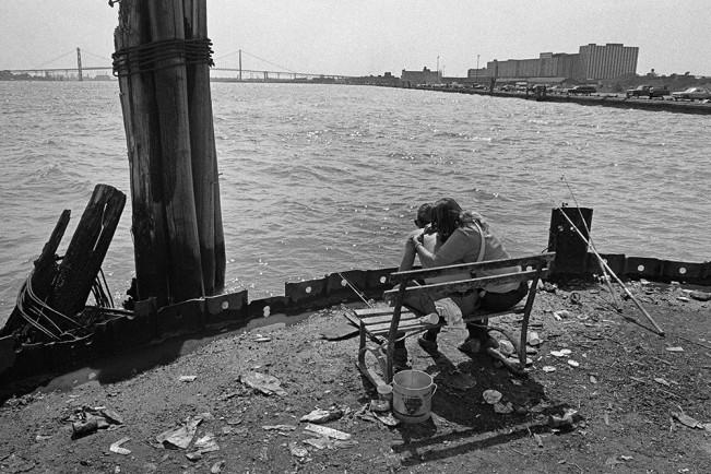 Woman Grooming Her Boyfriend, Detroit 1972 1-18-3