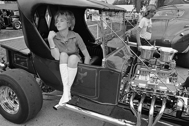 Woman at Hot Rod Show, Detroit 1972
