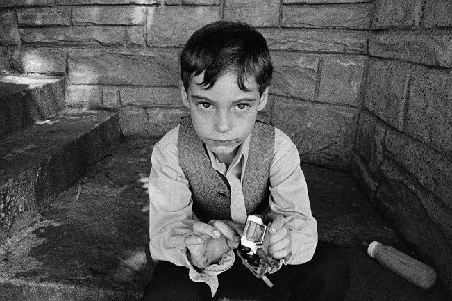 Young Boy with Toy, Detroit 1972 2-16-3
