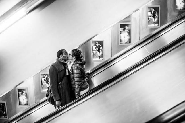 Author: Marek Lapis London, UK Title: Kiss in London Underground