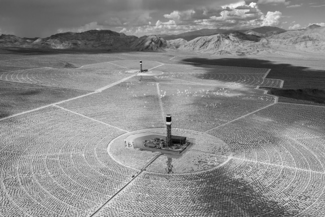 Solar Towers Two and Three, Ivanpah Solar Electric Generating Sy