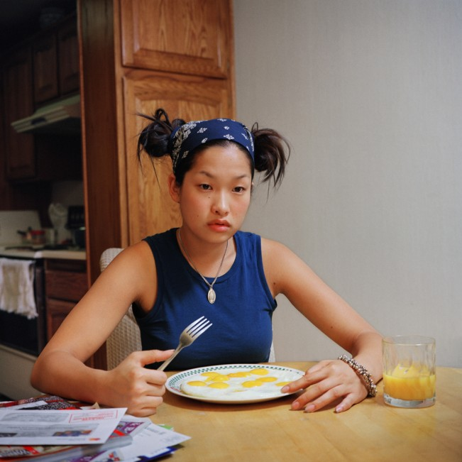 1. Inhye with a fork, C-print, 100cmx100cm, 2003