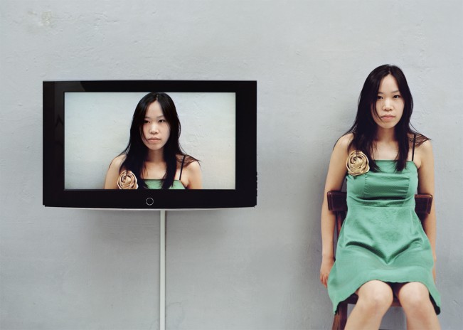 1.Looking at yourself_흑표범, 160cm x 120cm, C-print, 2009