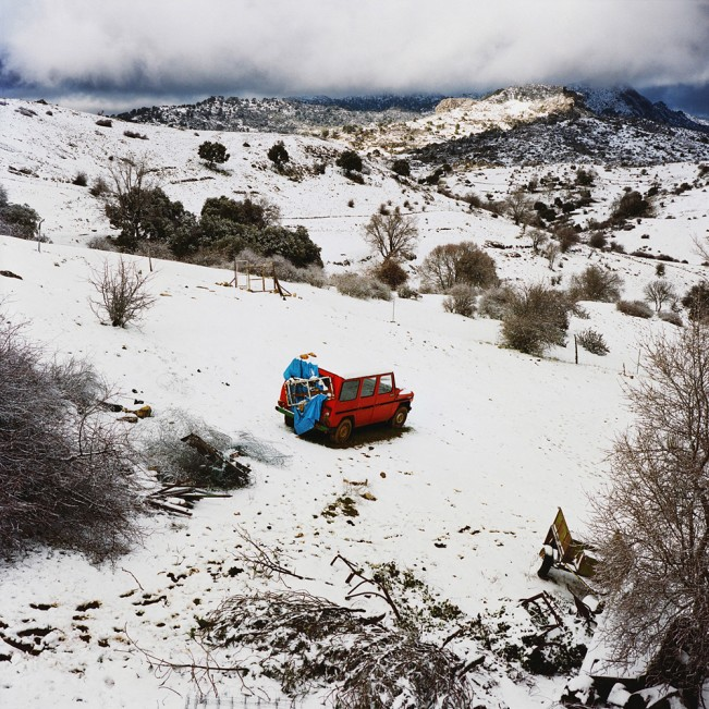 The red car, Sierra de Cazorla, Spain, 2013