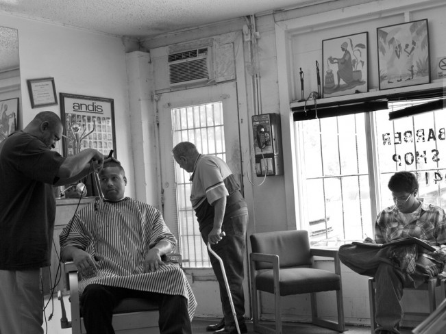 Interior, Jessie's Barber Shop