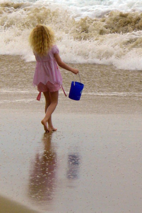 Blue Pail by Laurie McCormick; Summer Fun 2014