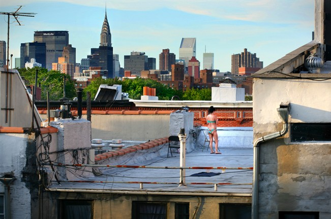 Rooftop Sunbather East Village NYC