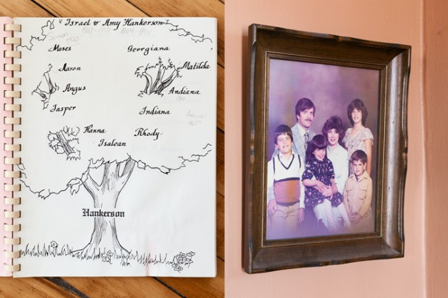 Diane's Family Tree and Hankerson Family Portrait (Diptych)