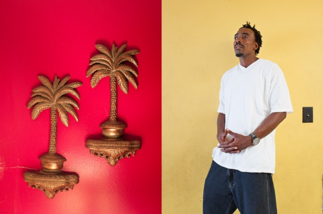 Palm Trees and Joseph Hankerson (Diptych)