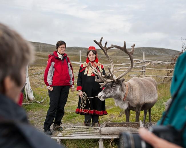 German with Reindeer Herder
