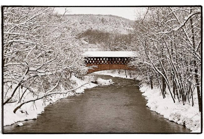 Covered Bridge Over Fox Creek, Schoharie, NY© Scott Keidong 2011