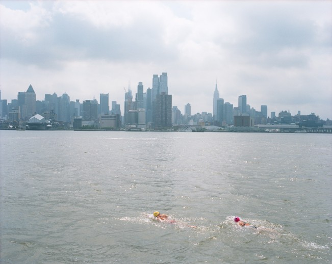 5-Swimmers, The Hudson River, 2014