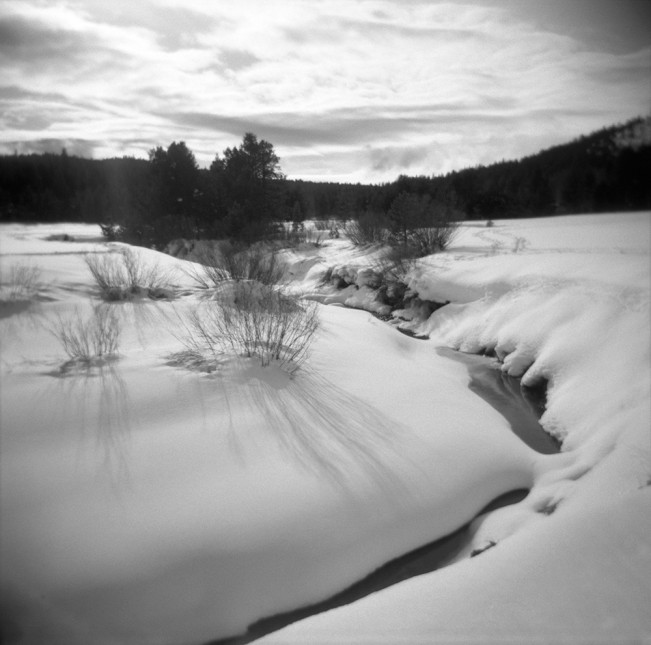 A river through winter