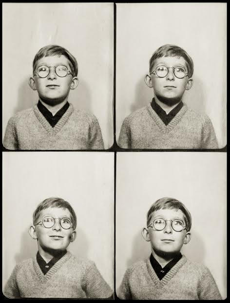 Self Portrait Number One. Six years old. Photobooth image.
