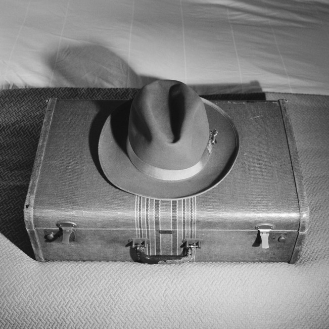 Hat on Suitcase