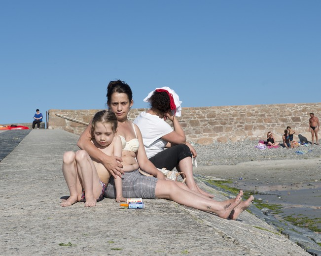 015 Family outing, Cobo Bay, Guernsey