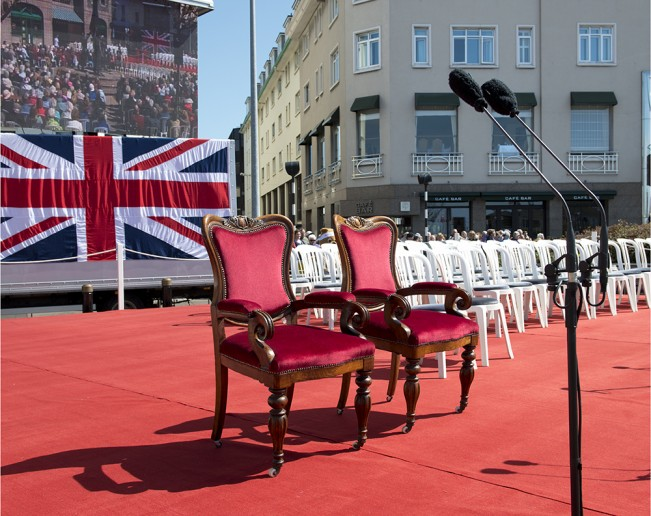 08 Dais, Liberation Square, St Helier, Liberation Day