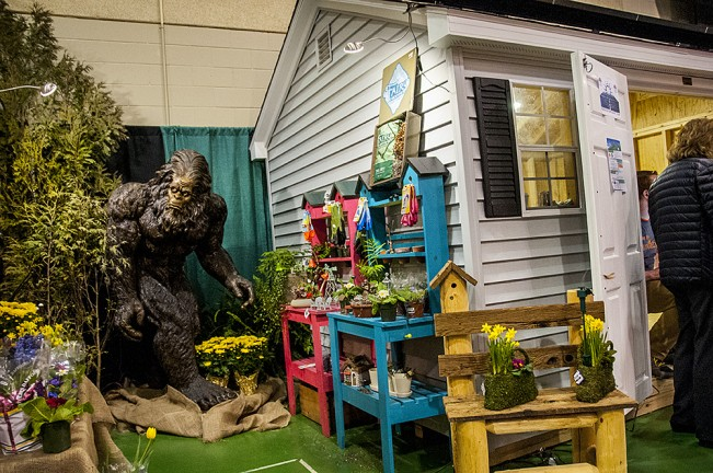 Sasquatch at the flower show