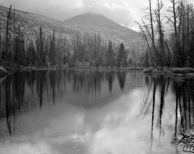 8-3663  Pond and Rain