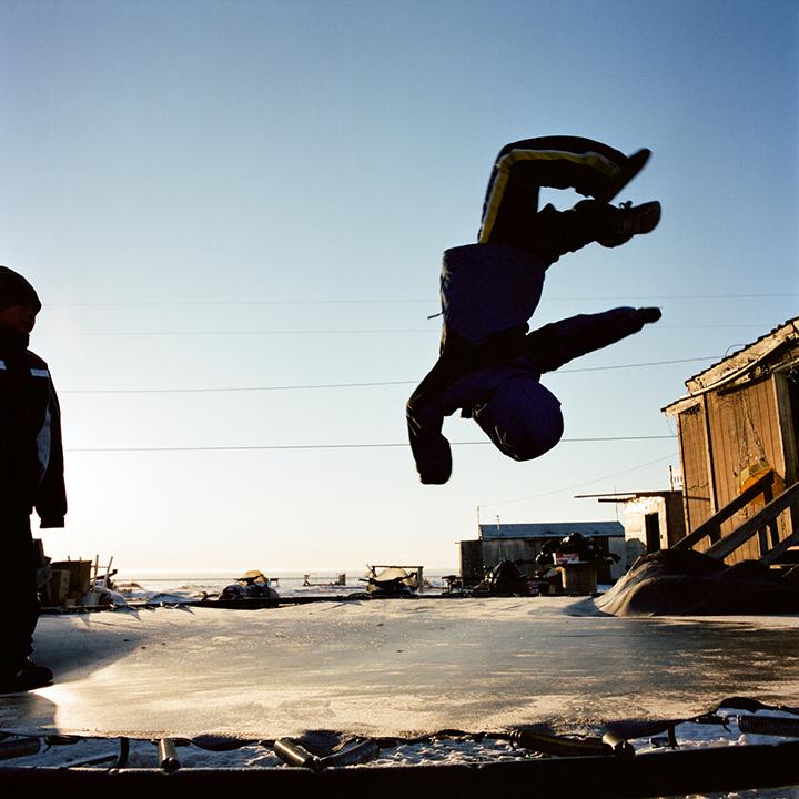 KIVALINA, ALASKA - 2007: Back Flip.