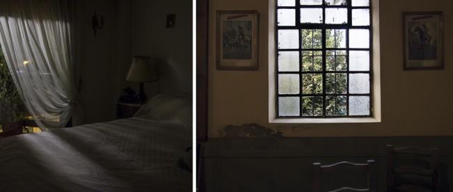 La sala y el dormitorio