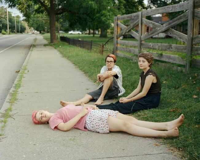 EliseKirk.SidewalkRoadWatching