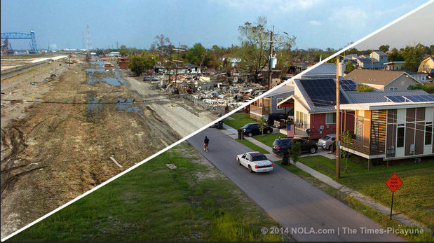 Katrina then and now