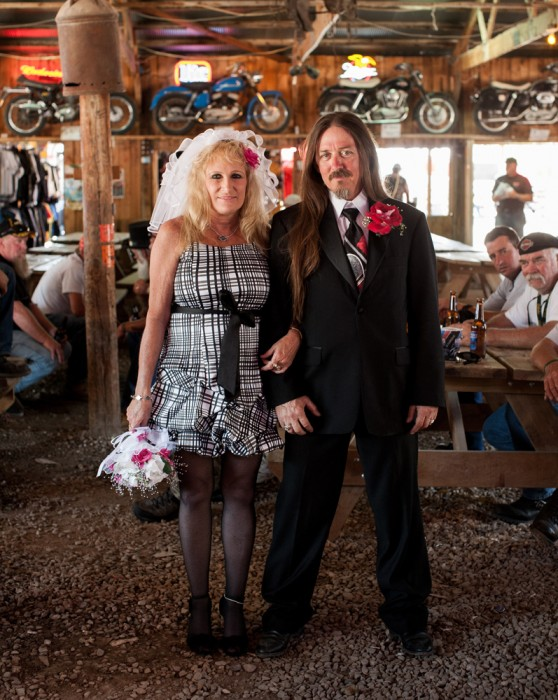 Broken Spoke Wedding Portrait