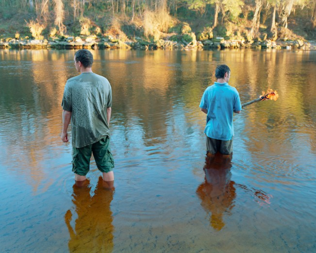 16. Seth and Skee In River, 2009