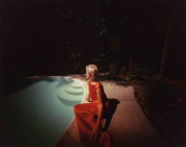 Richmond, Virginia Joan by Her Pool, 1986