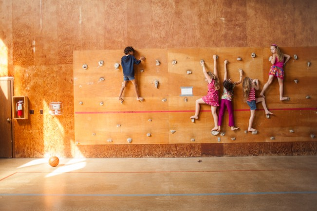 Children take part in activities at a weekend summer camp for gender-creative children and their families.