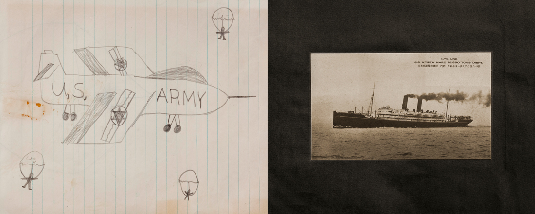 Early patriotic work. Drawing from grade school by Kevin J. Miyazaki. Photo by Kevin J. Miyazaki