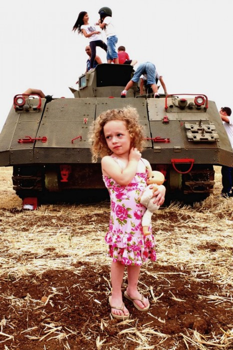 The girl and the tank2