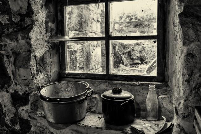 Tin Bucket Window