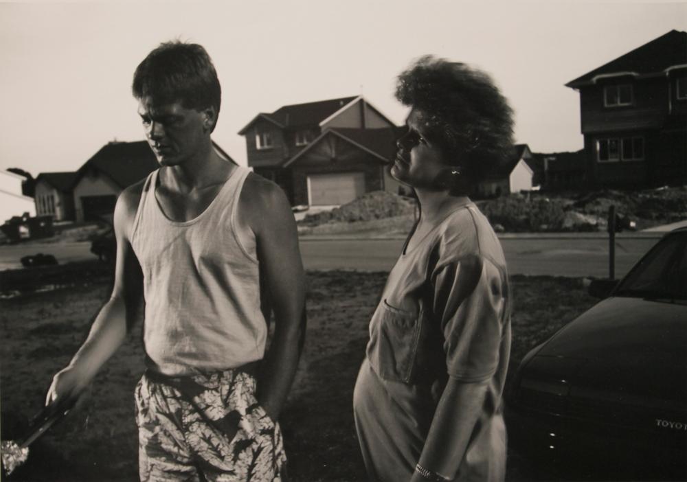 Tom Bamberger., grilling, 1991jpg