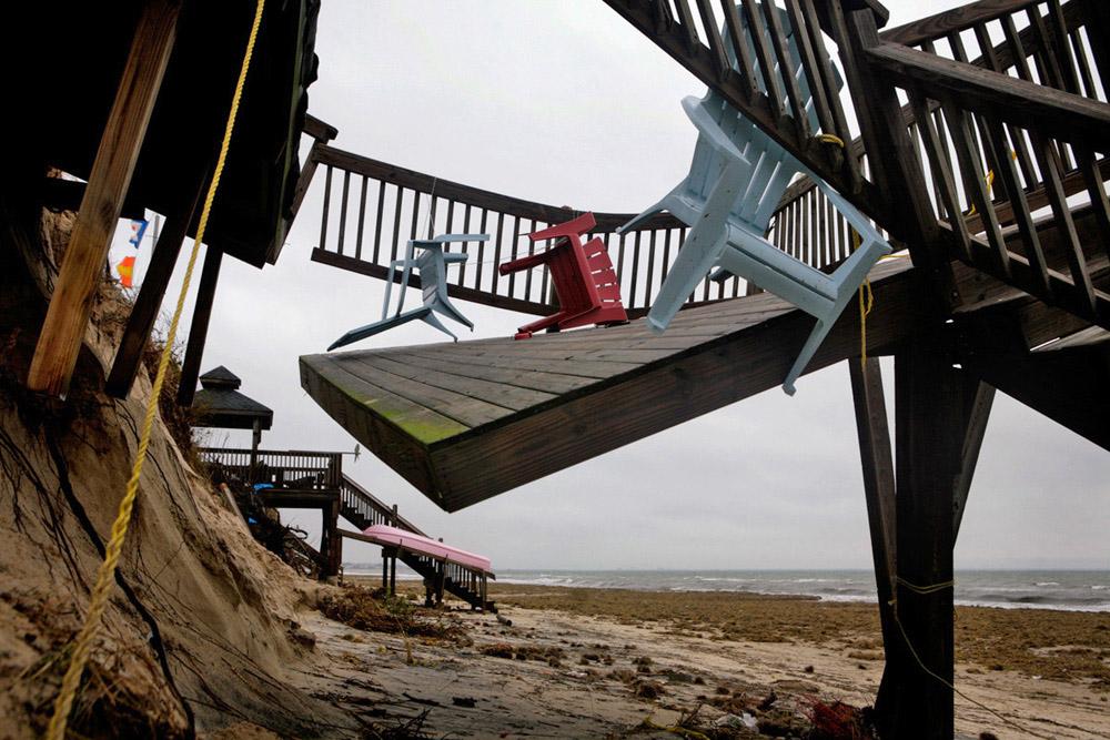 Deck after a storm, 2009
