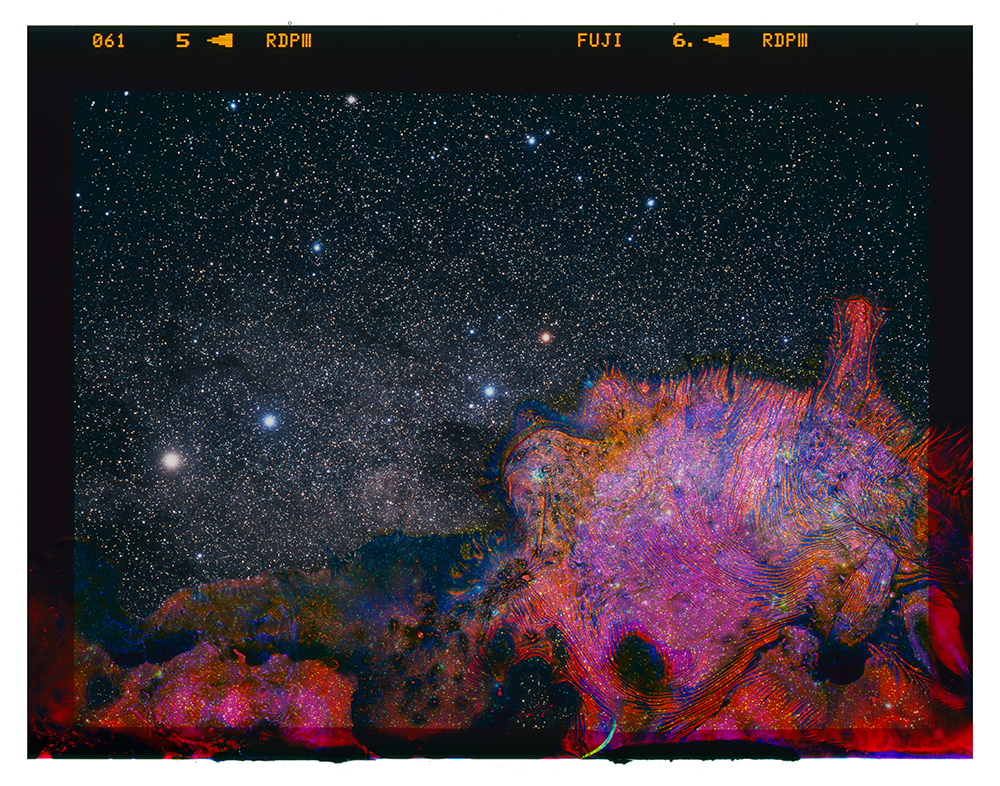 A Photograph of the Milky Way Eaten by Bacteria Found in Unpasteurized Milk